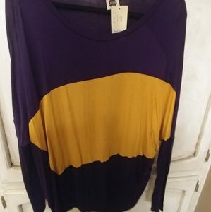 New- by Jem Purple and Gold top